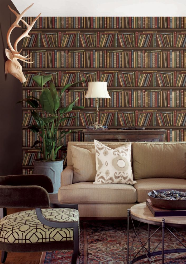 Fine Decor Distinctive Bookcase FD40545 Wallpaper